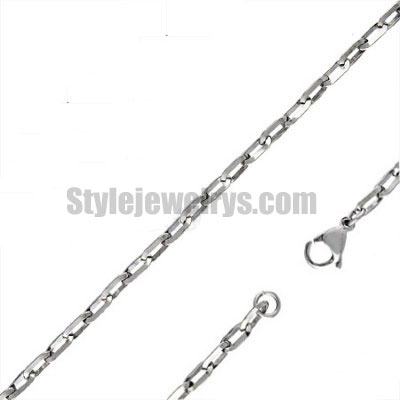 Stainless steel jewelry Chain 50cm - 55cm fainthful C link chain necklace w/lobster 3.8mm ch360269