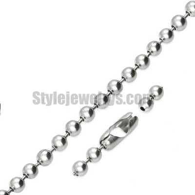 Stainless steel jewelry Chain 50cm - 55cm length ball link chain thickness 6mm ch360218