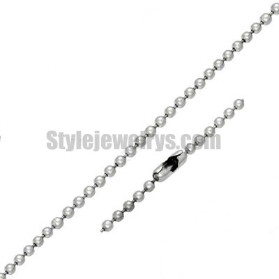 Stainless steel jewelry Chain 50cm - 55cm length ball link chain thickness 2mm ch360202