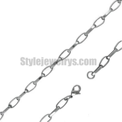 Stainless steel jewelry Chain 50cm - 55cm length faith circle link chain necklace w/lobster 6.5mm ch360259
