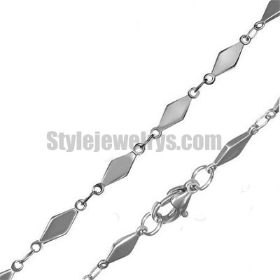 Stainless steel jewelry Chain 45cm - 50cm length diamond link chain necklace w/lobster 4mm ch360232