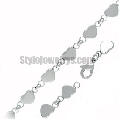 Stainless steel jewelry Chain 50cm - 55cm length heart ROLO link chain necklace w/lobster 7mm ch360220