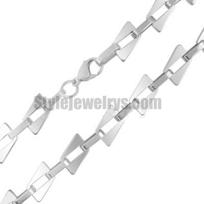 Stainless steel jewelry Chain 50cm - 55cm fancy square link chain necklace w/lobster 8mm ch360281